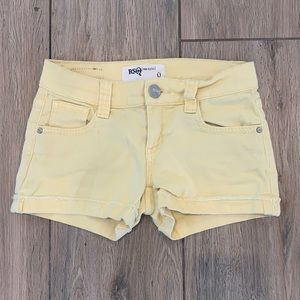 RSQ Jean Shorts in Yellow